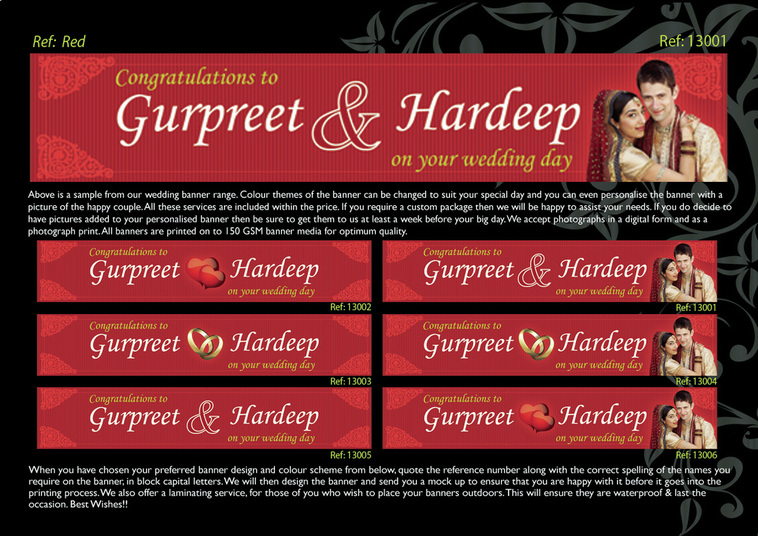 custom indian wedding banner